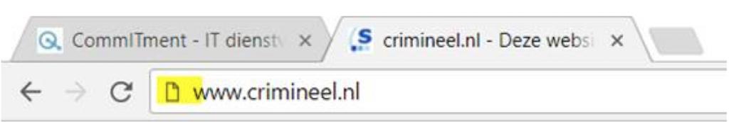 Website zonder https - CommITment