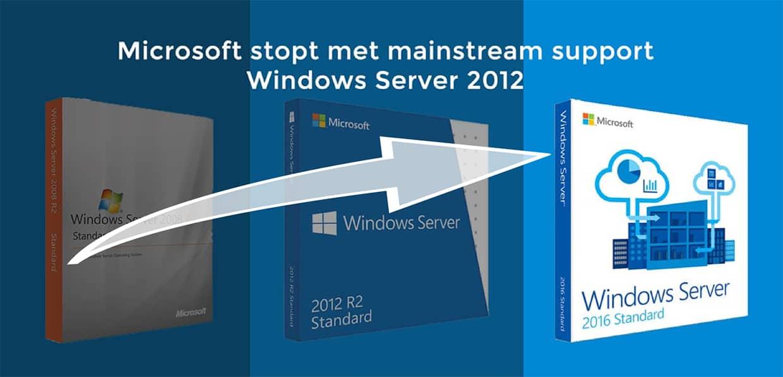Microsoft stopt met basisondersteuning Windows Server 2012