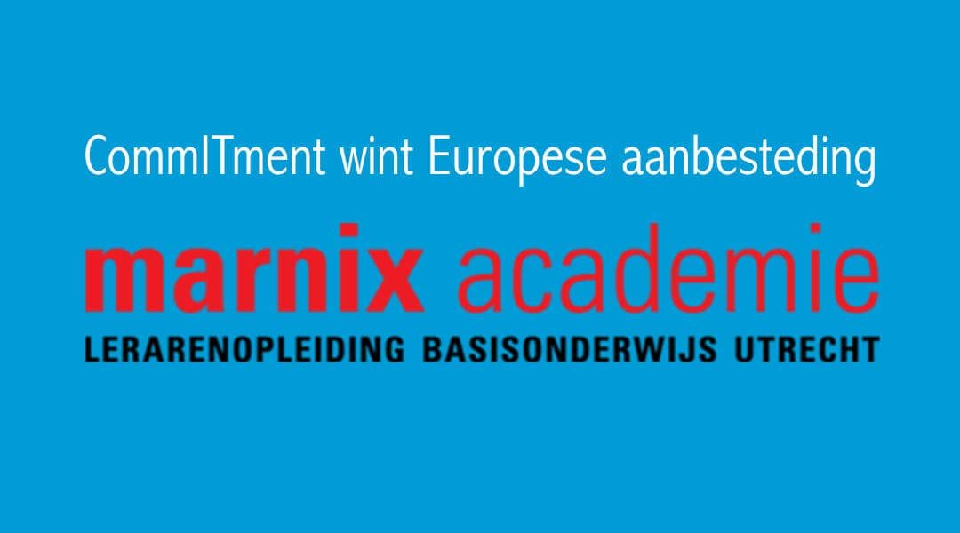 CommITment wint Europese aanbesteding ICT-support Marnix Academie - CommITment cloud computing