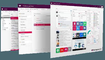 Digitale werkplek Workspace interface is een web portaal - Commitment cloud computing